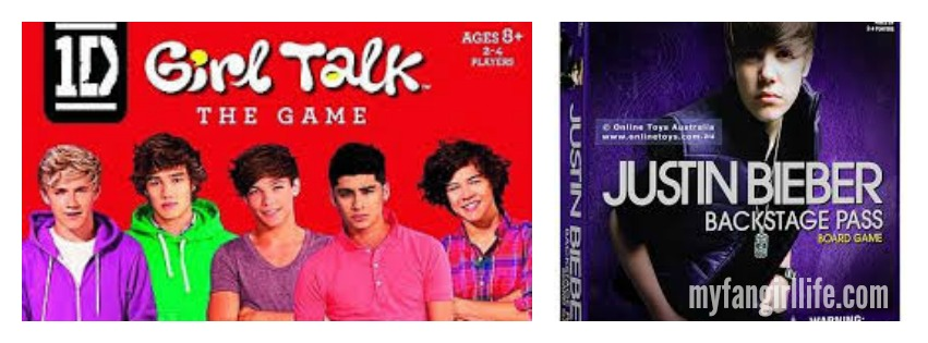 One Direction Justin Bieber Board Games