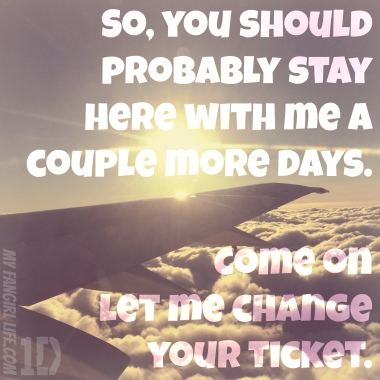 One Direction Four Lyrics - Change Your Ticket 1