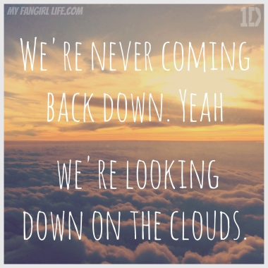 One Direction Four Lyrics - Clouds 1