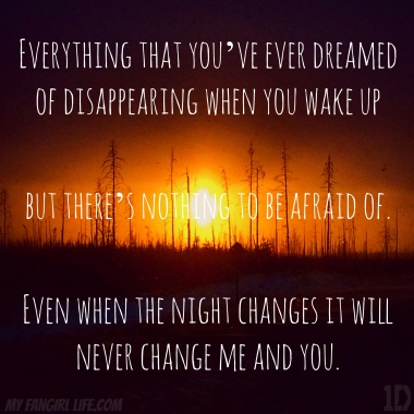 One Direction Four Lyrics - Night Changes 2