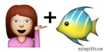 Girl + Fish Does not equal Mermaid Emoji
