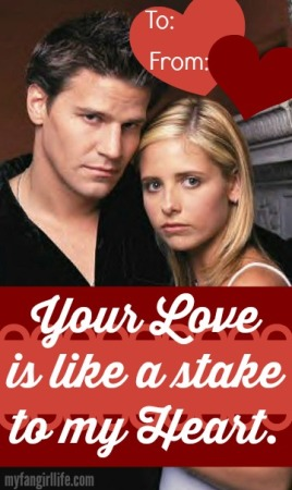 Buffy the Vampire Slayer + Angel Valentines
