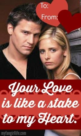 Buffy the Vampire Slayer + Angel Valentines