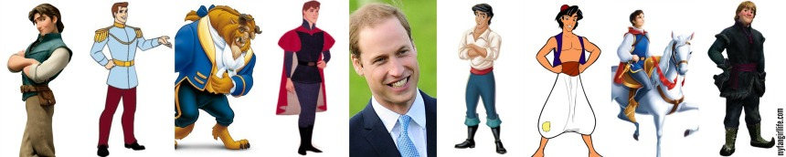 Disney Princes + Prince William