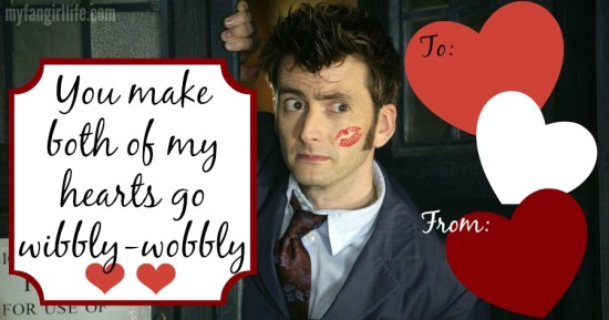 Doctor Who Ten Tennant TARDIS Valentines