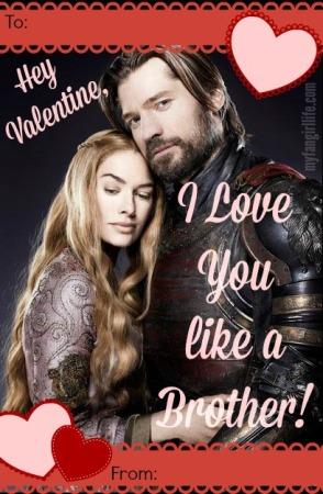 Jamie Cersei Game of Thrones Valentine 1