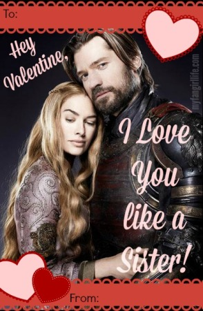 Jamie Cersei Game of Thrones Valentine 2