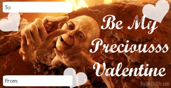 Lord of the Rings Hobbit Bollum Precious Valentine