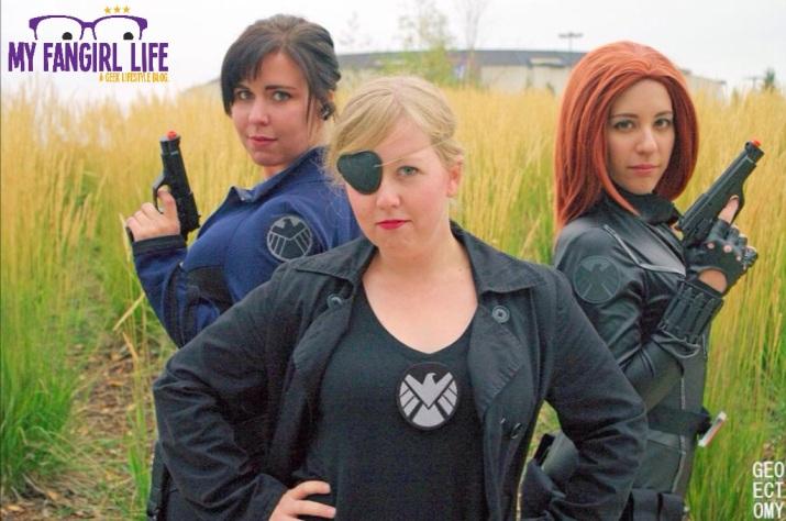Marvel Nick Fury Agent Hill Black Widow Cosplay