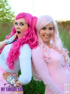 My Little Pony Cosplay - Pinkie Pie + Fluttershy 1