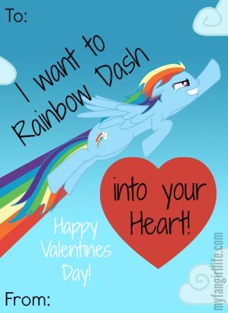 Rainbow Dash My Little Pony Valentine