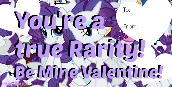 Rarity My Little Pony Valentines