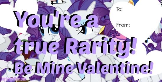 Rarity My Little Pony Valentines