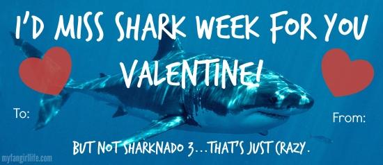 Shark Week Sharknado Valentines