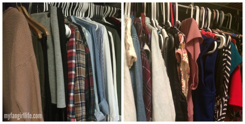 Two different closets