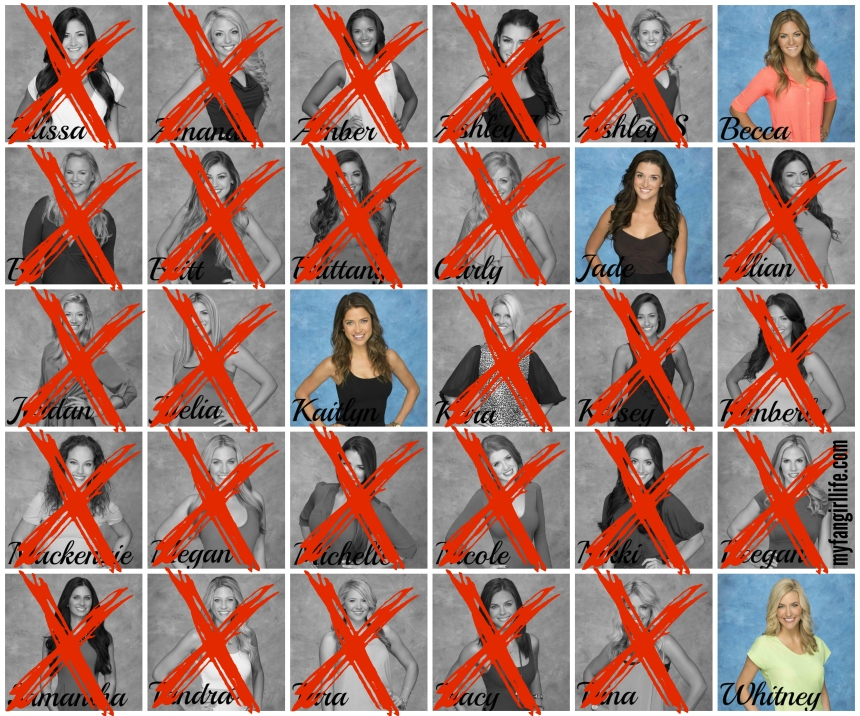 Bachelor Season 19 Chris - Week 7 Eliminations