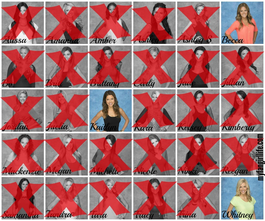 Bachelor Season 19 Chris - Week 8 Eliminations