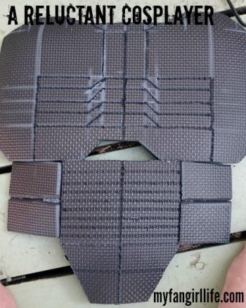EVA Foam Nightwing Cosplay Front Armor