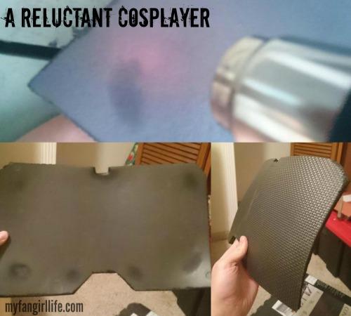 EVA Foam Nightwing Cosplay Heating