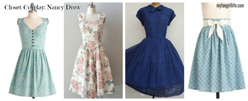 Nancy Drew Dress Collage