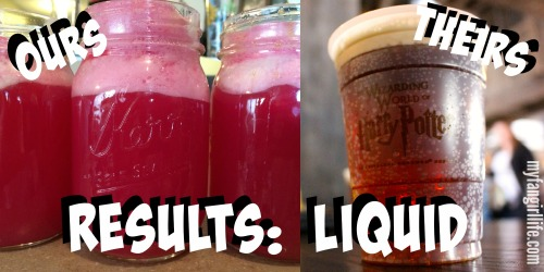 Wizardign World of Harry Potter Butterbeer Recipe - Liquid Results