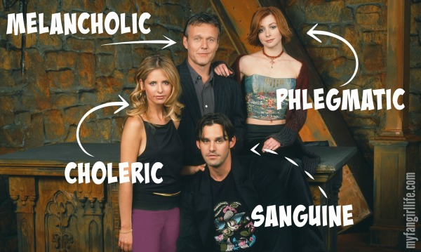 4 Humors Temperaments Buffy the Vampire Slayer