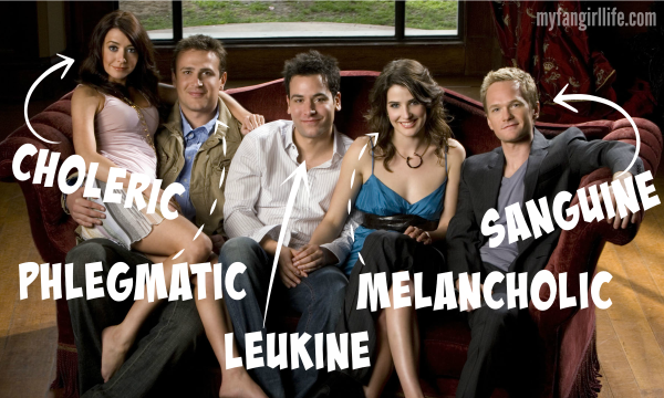 4 Humors Temperaments How I Met Your Mother