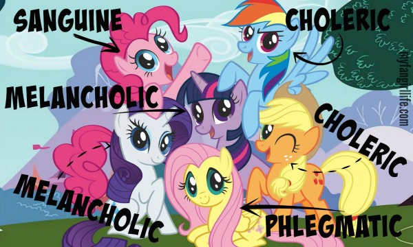 4 Humors Temperaments My Little Pony