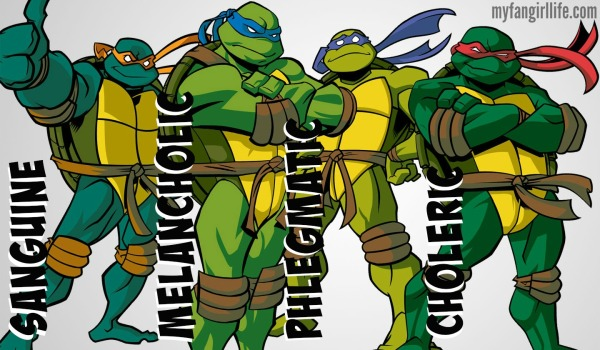 4 Humors Temperaments Teenage Mutant Ninja Turtles