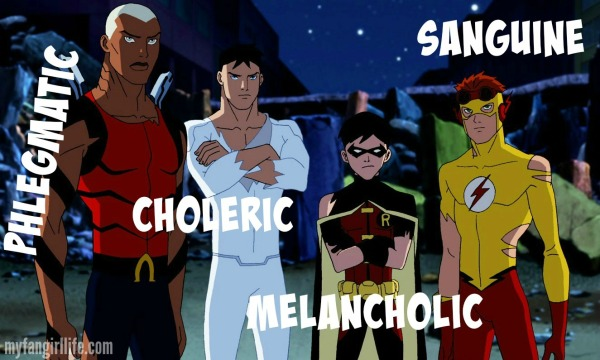 4 Humors Temperaments Young Justice