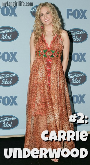 "Carrie Underwood during ""American Idol"" Season 4 - Finale - Press Room at The Kodak Theatre in Hollywood, CA, United States. (Photo by Chris Polk/FilmMagic)"